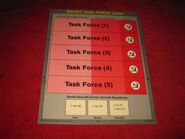 1988 The Hunt for Red October Board Game Piece: Soviet Task Force Card - $3.00