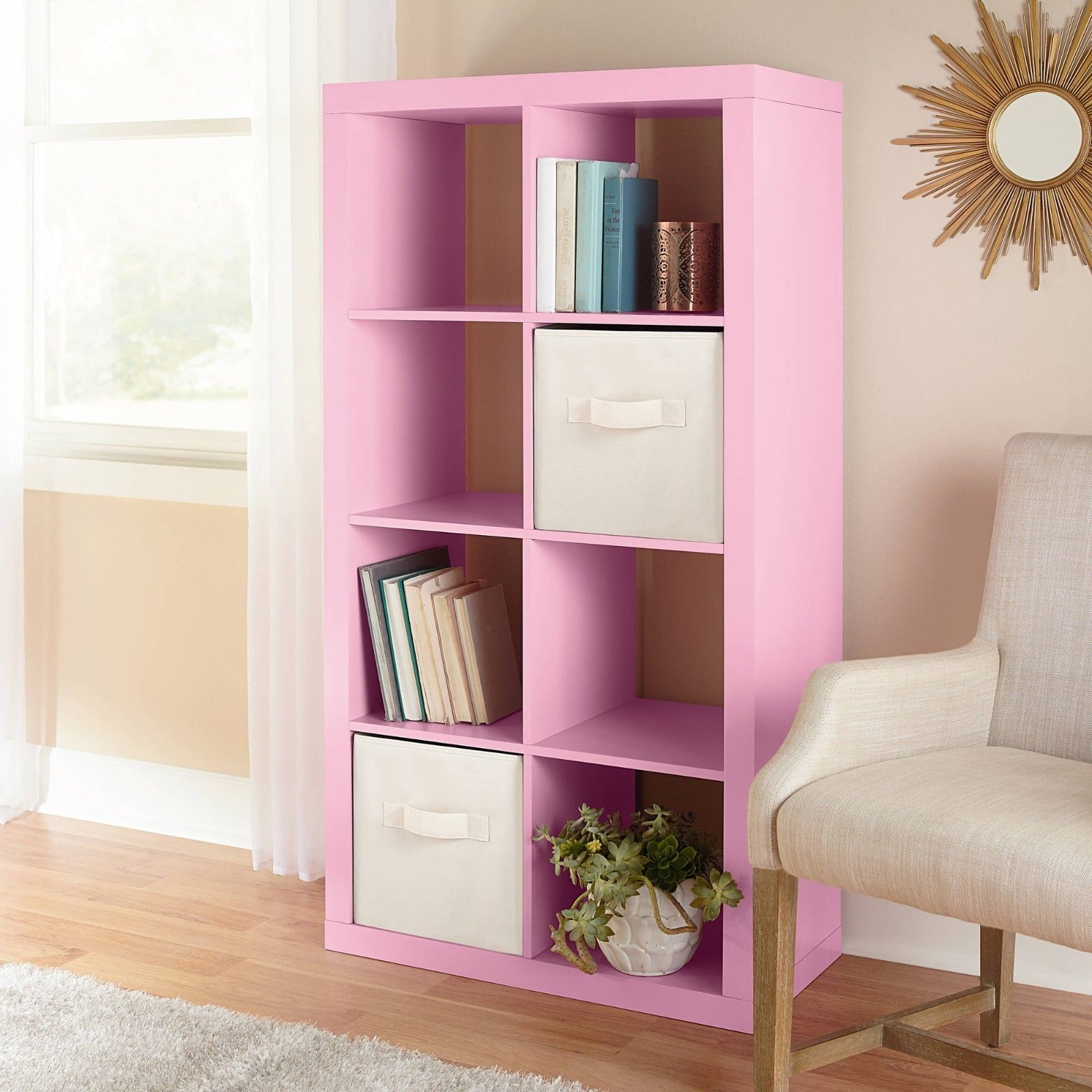 Better Homes and Gardens 8-Cube Organizer Pink