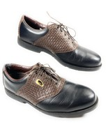 FootJoy FJ Men's Sierra Treks Golf Shoes Black Brown Leather Saddle Weav... - $24.74