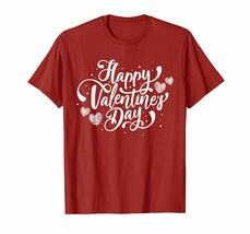 """2019 Happy Valentine""""s Day T-shits Heart For Women Men Gift - $15.99"""