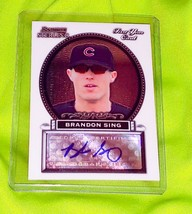 Mlb Brendan Sing Chicago Cubs Autographed 2005 Bowman Sterling First Year Rc Mnt - $1.83