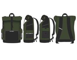 Green RollTop Backpack Men's Green Backpack - $32.99 CAD