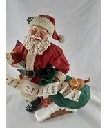 Possible Dreams Santa On The Rooftop with His List and Kitty cat 1994 - $46.52