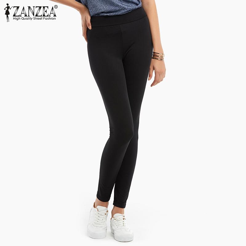 ZANZEA  Spring Summer New Women Fashion Leggings Casual Black Fitness High W