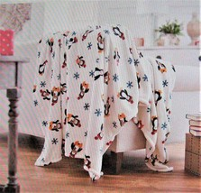 Berkshire Holiday Throw Blanket Penguin Party - $39.59