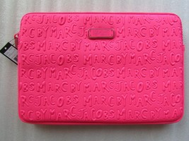 """Marc Jacobs Laptop Sleeve 11"""" Case Adults Suck Knockout Pink New - $97.02"""
