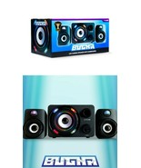 NEW SEALED Official Bugha LED Gaming Speakers Subwoofer Set 3.5 mm aux-in - $37.11