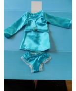 1969 IDEAL CRISSY BLUE SATIN DRESS & PANTIES w/BELT Crisp Factory Overst... - $28.71
