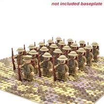 21pcs/lot WW2 Army Troops UK United Kingdom Military Soldiers Minifigures Block  - $26.99