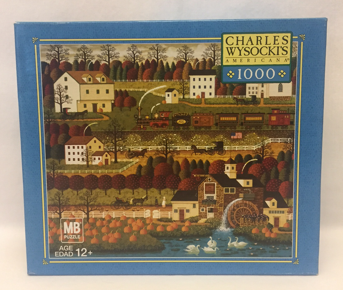 Primary image for Charles Wysocki puzzle Honey Pumpkin Valley 1000 piece autumn scene 2005