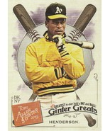 2019 Topps Allen and Ginter Ginter Greats #GG14 Rickey Henderson  - $0.50