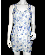 NWT SUPERDRY TOKYO VINTAGE women white floral button front SUNDRESS summ... - $11.74