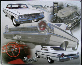 Ford '63 Galaxy Collage Metal Sign - $19.95