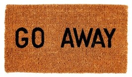 """NEW - """"GO AWAY""""  Doormat 16""""x 27"""" x 1"""" Fabric -... - $29.69"""