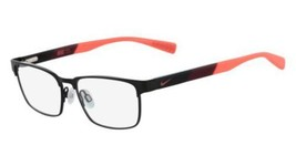 Authentic Nike Eyeglasses 5575 001 Satin Black Team Red Frames 49MM Rx-ABLE - $59.39