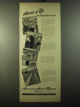 1950 Association of American Railroads Ad - Here's a tip on tops in Travel - $14.99