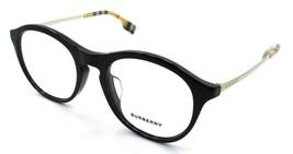 Burberry Rx Eyeglasses Frames BE 2287F 3001 50-19-140 Black Made in Italy - $118.19