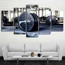 Framed 5 Piece Barbell Picture Poster Canvas Wall Art Home Decor - $78.95+