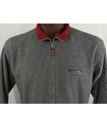 TOMMY HILFIGER ATHLETICS Mens Gray Fleece Sweater Zip Gray L/S Sz L - $24.77