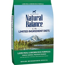 Natural Balance L.I.D. Limited Ingredient Diets Dry Dog Food, Lamb Meal & Brown