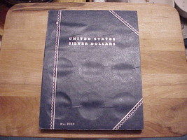 OLD WHITMAN SILVER DOLLAR COIN ALBUM  27 HOLES  ..USED BUT REUSABLE. - $6.76