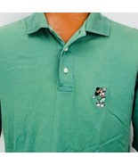 Titleist by Corbin Large Disney Embroidered Mickey Mouse Polo Shirt Solid Green - $24.74