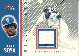2003 Fleer Tradition Update Milestones Game Jersey Sammy Sosa MS SS Cubs - $4.00