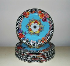 RARE Set of 6 / 12 Rosenthal VERSACE Hot Flowers Chargers Service Cabine... - $1,849.00