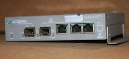 Accedian Networks / JDSU AMN-1000-TE MetroNID 10/100/1000 Media Converter - $100.00
