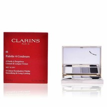 Clarins Wet and Dry 4-Colour Eyeshadow Palette Smoothing and Long Lastin... - $14.30