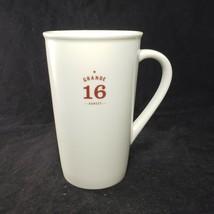 Starbucks Coffee 2010 Large White Mug Grande 16 Ounces Brown Letters Est... - $26.68