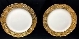 "Set of 2 Antique Victorian Washington Colonial USA 10"" Decor Plates Gold... - $99.99"