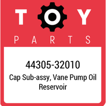 44305-32010 Toyota Cap Reservoir, New Genuine OEM Part - $24.01