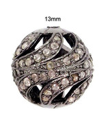 New 0.98 Ct Diamond Pave Spacer 925 Sterling Silver Bead Finding Jewelry... - $149.29