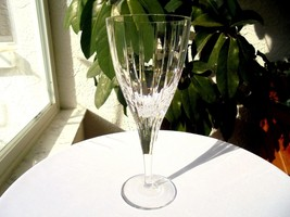 "Atlantis Fantasy Pattern Crystal Water Goblet 8 1/8"" Tall Made in the US... - $29.69"