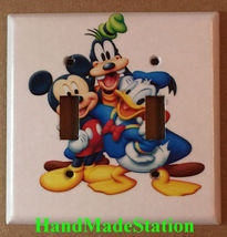 Mickey mouse Donald Duck Goofy Pluto Switch Outlet Wall Cover Plate Home decor image 5