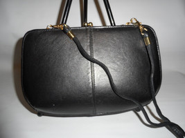 1970s Vintage Smooth Black Leather NATURALIZER Convertible Bag Mirror - $32.00
