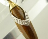 Tiger Eye and Diamond Pendant in 10K Solid Yellow Gold