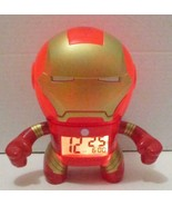 MARVEL DISNEY IRON MAN AVENGERS ASSEMBLE ALARM CLOCK LIGHT UP SOUNDS - $24.99