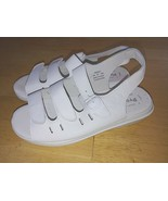 PROPET LADIES WHITE LEATHER STRAPPY SANDALS-6.5-TRIED ON/NOT WORN OUTSID... - $17.99