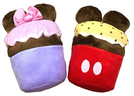 Disney Parks Shanghai Mickey and Minnie Mouse Cupcake Plush Stuffed Set ... - $18.80