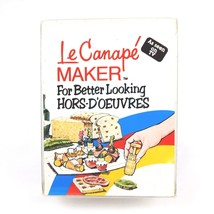 Vintage LE CANAPE MAKER by Zap! 1980 4 Piece Set Hors-d'oeuvres with Boo... - $19.15