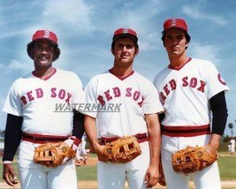 MLB Boston Red Sox Outfield Jim Rice Fred Lynn Dwight Evans 8 X 10 Photo Picture - $4.99