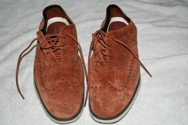 Cole Haan Grand Wingtip Oxfords Burgundy Shoes mens 15M Leather Rare 10/... - $59.00