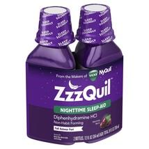 Lot of 3 Vicks Zzzquil Nighttime Sleep Aid, Warming Berry Liquid 12 oz 2... - $47.49