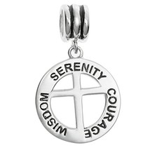 Qina C 925 Sterling Silver Serenity Courage Wisdom Cross Inspirational D... - $86.42