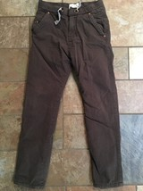 Boys Ezara Kids Brown Fleece Lined Pants Sz 7-8 Inseam 24 - $16.82