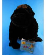 "9"" Silverback Gorilla  Black & Silver very silky fur Ganz Webkinz  Mint ... - $9.94"