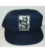 Star Wars StormTrooper with Blaster Embroidered Patch o/a Black Baseball... - $14.50