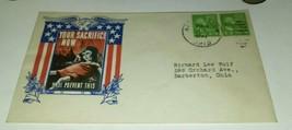1944 DEAD CHILD WORLD WAR 2 PATRIOTIC PROPAGANDA COVER DATE STAMPED Enve... - $18.55